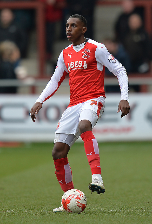 Fleetwood Town's Amari'i Bell<br /> <br /> Photographer Dave Howarth/CameraSport<br /> <br /> Football - The Football League Sky Bet League One - Fleetwood Town v Barnsley - Saturday 19th March 2016 - Highbury Stadium - Fleetwood    <br /> <br /> &copy; CameraSport - 43 Linden Ave. Countesthorpe. Leicester. England. LE8 5PG - Tel: +44 (0) 116 277 4147 - admin@camerasport.com - www.camerasport.com