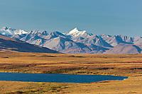Autumn colored tundra in the Brooks range mountains, arctic, Alaska.
