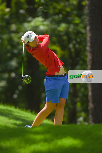 Cydney Clanton (USA) watches her tee shot on 2 during round 3 of the U.S. Women's Open Championship, Shoal Creek Country Club, at Birmingham, Alabama, USA. 6/2/2018.<br /> Picture: Golffile | Ken Murray<br /> <br /> All photo usage must carry mandatory copyright credit (© Golffile | Ken Murray)