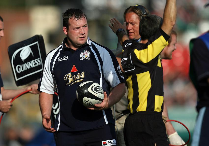 Photo: Rich Eaton...Leicester Tigers v Bristol Rugby. Guinness Premiership. 05/05/2007. Bristol hooker Mark Regan.