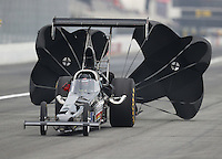 Feb 10, 2017; Pomona, CA, USA; NHRA top alcohol dragster driver Randy Eakins during qualifying for the Winternationals at Auto Club Raceway at Pomona. Mandatory Credit: Mark J. Rebilas-USA TODAY Sports