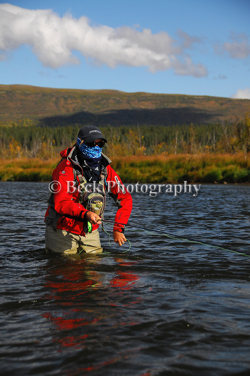 Alaska  fly fishing the big Ku, buff