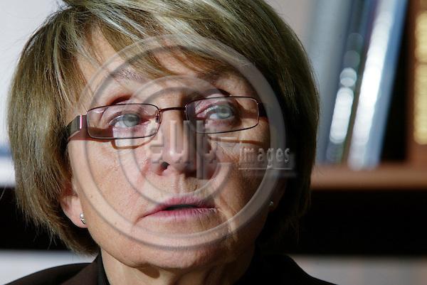 BRUSSELS - BELGIUM - 03 OCTOBER 2005 --Professor Danuta HóBNER (Hubner), EU Commissioner for Regional Policy.   PHOTO: ERIK LUNTANG / EUP-IMAGES..