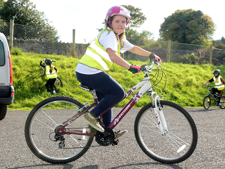 Elizabeth Sheeran who took part in the charity cycle to raise funds towards the new primary school in Duleek. Photo:Colin Bell/pressphotos.ie