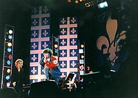 Montreal (qc) CANADA - JUne 24 1996 - Robert Charlebois onstage for Quebec National Holliday