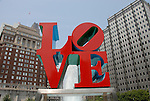 LOVE statue at JFK Plaza..Philadelphia, Pennsylvania, PA USA.  Photo copyright Lee Foster, 510-549-2202, lee@fostertravel.com, www.fostertravel.com. Photo 329-30316.