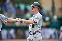 Dartmouth Big Green assistant coach Jonathan Anderson (11) during a game against the USF Bulls on March 17, 2019 at USF Baseball Stadium in Tampa, Florida.  USF defeated Dartmouth 4-1.  (Mike Janes/Four Seam Images)