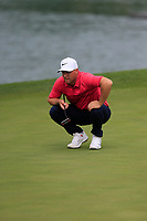 Alex Noren (SWE) on the 2nd green during the 1st round at the WGC HSBC Champions 2018, Sheshan Golf CLub, Shanghai, China. 25/10/2018.<br /> Picture Phil Inglis / Golffile.ie<br /> <br /> All photo usage must carry mandatory copyright credit (&copy; Golffile | Phil Inglis)