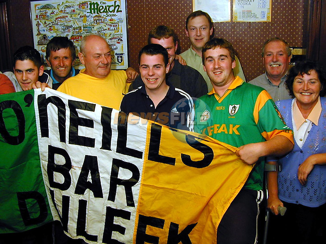 Regulars from O'Neills in Duleek all set for next Sunday's big match..Picture Paul Mohan Newsfile