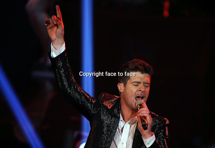 Robin Thicke at <br /> Finale X Factor TV Show, Season 2013, Hilversum, Netherlands.<br />  July 5th,<br />