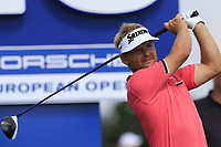 Soren Kjeldsen (DEN) tees off the 16th tee during Saturday's Round 3 of the Porsche European Open 2018 held at Green Eagle Golf Courses, Hamburg Germany. 28th July 2018.<br /> Picture: Eoin Clarke | Golffile<br /> <br /> <br /> All photos usage must carry mandatory copyright credit (&copy; Golffile | Eoin Clarke)