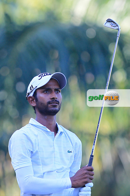 Rashid Khan (IND) on the 5th tee during Round 4 of the Maybank Championship on Sunday 12th February 2017.<br /> Picture:  Thos Caffrey / Golffile<br /> <br /> All photo usage must carry mandatory copyright credit     (&copy; Golffile | Thos Caffrey)