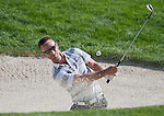 August 4, 2012:  Richard S. Johnson from Stockholm, Sweden hits out of the sand trap on the 3rd hole during the third round of the 2012 Reno-Tahoe Open Golf Tournament at Montreux Golf & Country Club in Reno, Nevada.