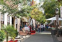 Spain, Canary Islands, La Palma, Los Llanos de Aridane: Calle Real (former Calle General Franco), street festival
