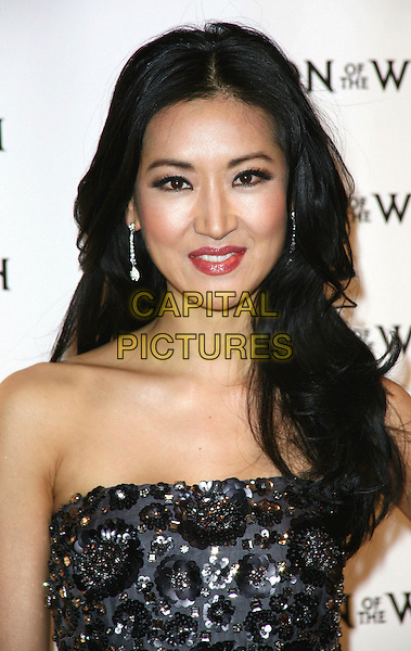 KELLY CHOI .Relativity Media's premiere of 'Season of the Witch' at AMC Lincoln Square Theater on January 4, 2011 in New York City, New York, NY, USA, .4th January 2011..portrait headshot strapless  beaded black .CAP/ADM/PZ.©Paul Zimmerman/AdMedia/Capital Pictures.