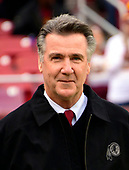 Washington Redskins team president Bruce Allen on the field prior to the game against the Philadelphia Eagles at FedEx Field in Landover, Maryland on December 30, 2018.<br /> Credit: Ron Sachs / CNP