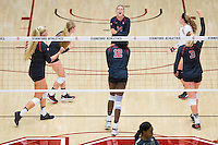 STANFORD, CA - September 9, 2016: Celebration at Maples Pavilion. The Purdue Boilermakers defeated the Stanford Cardinal 3 - 2.