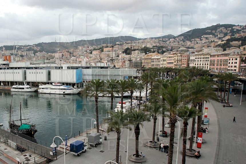 Veduta del porto antico di Genova.<br /> View of the old port of Genoa.<br /> UPDATE IMAGES PRESS/Riccardo De Luca