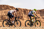 Elmar Reinders (NED) Riwal Readynez Cycling Team and Yoann Offredo (FRA) Circus-Wanty Gobert in action during Stage 1 of the Saudi Tour 2020 running 173km from Saudi Arabian Olympic Committee to Jaww, Saudi Arabia. 4th February 2020. <br /> Picture: ASO/Kåre Dehlie Thorstad | Cyclefile<br /> All photos usage must carry mandatory copyright credit (© Cyclefile | ASO/Kåre Dehlie Thorstad)
