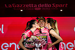 Race leader Primoz Roglic (SLO) Team Jumbo-Visma retains the Maglia Rosa at the end of Stage 2 of the 2019 Giro d'Italia, running 205km from Bologna to Fucecchio, Italy. 12th May 2019<br /> Picture: Marco Alpozzi/LaPresse | Cyclefile<br /> <br /> All photos usage must carry mandatory copyright credit (© Cyclefile | Marco Alpozzi/LaPresse)