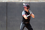 RALEIGH, NC - MAY 07: Louisville's Morgan Meyer. The North Carolina State University Wolfpack hosted the University of Louisville Cardinals on May 7, 2017, at Dail Softball Stadium in Raleigh, NC in a Division I College Softball game. Louisville won the game 7-0.