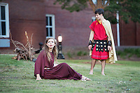 Classical Week 2016 Phaedra (Roman tragedy by Seneca) performance at the Zacharias Village Courtyard, presented by The Shakouls Honors College: Phaedra with Hippolytus.<br />