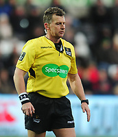 Referee Nigel Owens<br /> <br /> Photographer Kevin Barnes/CameraSport<br /> <br /> Guinness Pro14 Round 13 - Ospreys v Cardiff Blues - Saturday 6th January 2018 - Liberty Stadium - Swansea<br /> <br /> World Copyright &copy; 2018 CameraSport. All rights reserved. 43 Linden Ave. Countesthorpe. Leicester. England. LE8 5PG - Tel: +44 (0) 116 277 4147 - admin@camerasport.com - www.camerasport.com