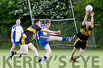 Bart Murphy Keel gets his shot in under pressure from Currow John O'Connor and Mike Hanafin during their County league clash in Currow on Saturday
