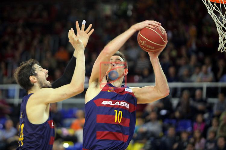 League ACB-ENDESA 2016/2017 - Game: 21.<br /> FC Barcelona Lassa vs ICL Manresa: 92-72.<br /> Ante Tomic &amp; Victor Claver.