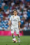 Luka Modric of Real Madrid in action during the La Liga 2018-19 match between Real Madrid and Getafe CF at Estadio Santiago Bernabeu on August 19 2018 in Madrid, Spain. Photo by Diego Souto / Power Sport Images