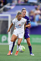 Orlando, FL - Saturday Sept. 24, 2016: Katie Bowen, Becky Edwards during a regular season National Women's Soccer League (NWSL) match between the Orlando Pride and FC Kansas City at Camping World Stadium.