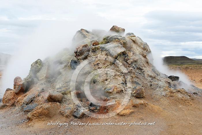 Namafjall, Fumarole, Solfataren, Hverir, Hverarond, Myvatn Region, Hveraroend, Myvatn Area, North Iceland