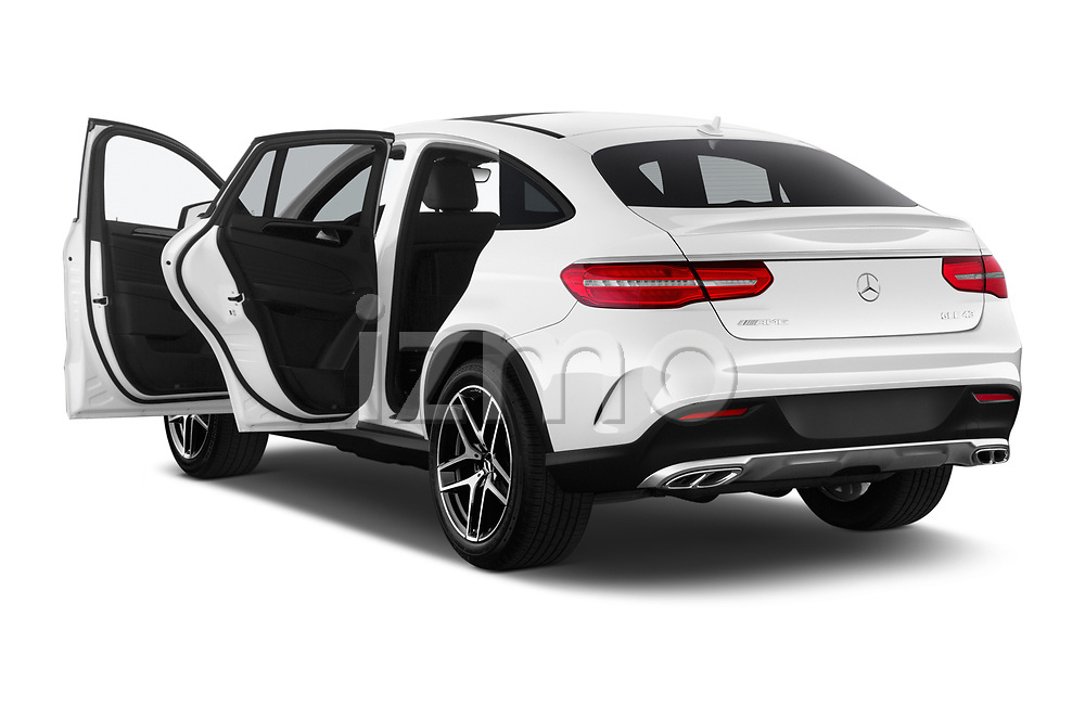 Car images close up view of a 2019 Mercedes Benz GLE Coupe AMG GLE43 5 Door SUV doors