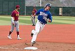 Western Nevada's DJ Peters rounds third after hitting a home run against Arizona Western College during WNC's home opener against Arizona Western College in Carson City, Nev. on Friday, Feb. 12, 2016. AWC won 9-5. <br /> Photo by Cathleen Allison/Nevada Photo Source