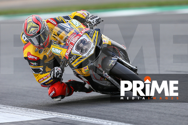 Shaun WINFIELD (8) of the BSB Anvil Hire TAG Yamaha race team during Free Practice 2 at Round 9 of the 2018 British Superbike Championship at Silverstone Circuit, Towcester, England on Friday 7 September 2018. Photo by David Horn.