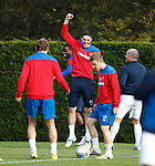 Kyle Lafferty punching the air