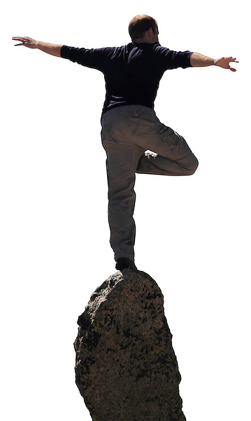 Photoshop mask of man balancing on granite spire. .  John leads private photo tours in Boulder and throughout Colorado. Year-round. .  John offers private photo tours in Denver, Boulder and throughout Colorado. Year-round Colorado photo tours.