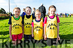Iveragh U10 Relay team at the County Championships on Sunday in Cahersiveen pictured l-r; Muireann Teahan, Katie O'Connell, Sarah O'Shea & Marie Clare Daly.