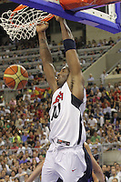 24.07.2012 Barcelona, Spain.  Pre-Olympic friendly game between Spain against USA at Palau St. Jordi. Picture shows Kobe Bryant