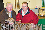 "LAST RACE: ""King Okee"" pictured here with his trainer Jim O'Donnell and his owner John Blennerhassett after running his 100th race which was his last race at the Kingdom Greyhound Stadium, Tralee on Saturday evening.   Copyright Kerry's Eye 2008"