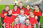 Girls from St Ciara's NS, Kenmare who played in the Cumann na mBunscoil County mini-sevens finals in Fitzgerald Stadium, Killarney on Friday front row: Ciara Cronin, Eimear Crowley. Middle row: Karen O'Sullivan, Katie Palmer, Fiadh Lucey, Katelyn Moriarty, Caoimhe Quinlan. Back row: Katie O'Connell,  Ella Granville and Ellen Sweeney.