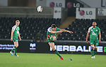 Connacht centre Craig Ronaldson attempts a long range penalty kick.<br /> Guiness Pro12<br /> Ospreys v Connacht<br /> Liberty Stadium<br /> 31.10.14<br /> &copy;Steve Pope-SPORTINGWALES