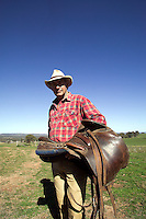 Australian sheep farmer in the Outback..MR