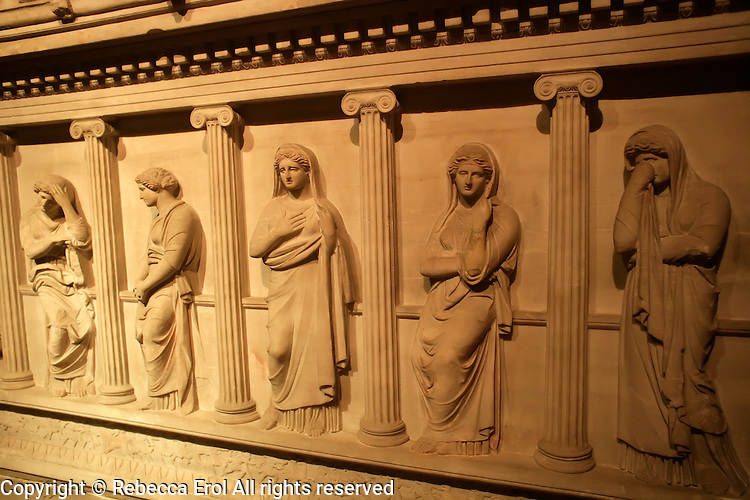 The Archaeological Museum in Istanbul, Turkey: Sarcophagus of Mourning Women in Pentelic marble from the Royal Necropolis of Sidon