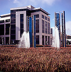 Modern office building, Callaghan Square, Cardiff, Wales
