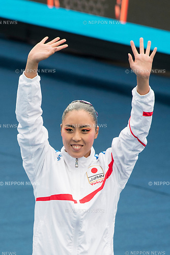Yukiko Inui (JPN), JULY 15, 2017 - Synchronized Swimming : 17th FINA World Championships 2017 Budapest Women's Solo Technical Routine Final round at City Park - Varosliget Lake in Budapest, Hungary. (Photo by Enrico Calderoni/AFLO)