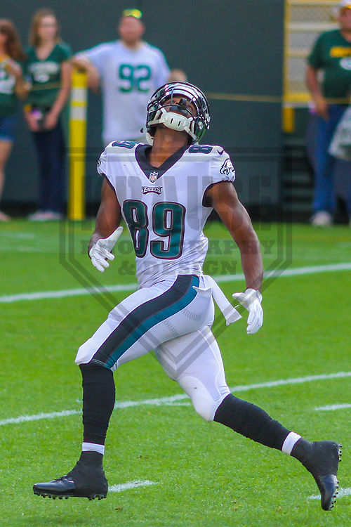Philadelphia Eagles wide receiver Greg Ward (89) during a preseason football game against the Green Bay Packers on August 10, 2017 at Lambeau Field in Green Bay, Wisconsin. Green Bay defeated Philadelphia 24-9.  (Brad Krause/Krause Sports Photography)