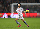 4th February 2019, London Stadium, London, England; EPL Premier League football, West Ham United versus Liverpool; Mohamed Salah of Liverpool in action