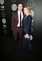 06 January 2018 - Santa Monica, California - Topher Grace, Ashley Hinshaw. The Art Of Elysium's 11th Annual Black Tie Artistic Experience HEAVEN Gala held at Barker Hangar. Photo Credit: F. Sadou/AdMedia
