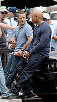 LL Cool J and Chris O'Donnell filming NCIS Los Angeles